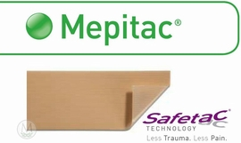 """Mepitac Silicone Tape #298400 (1.6""""x1.6 yds.) (Case of 12)"""