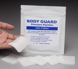 "Nearly Me Body Guard Pressure Patches, 2.4"" x 2.4"" x 1/8"""