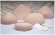 Nearly Me Contoured Triangle Foam Fitting Pads, 4-Pack