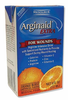 Nestle Resource Arginaid Extra Orange Burst (8 fl. oz Brik Packs) (Case of 27)