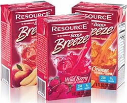Nestle Resource Breeze Fruit Beverage (Case of 27)