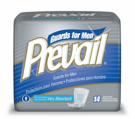 Prevail Male Guard Pads (Case of 9 Bags)