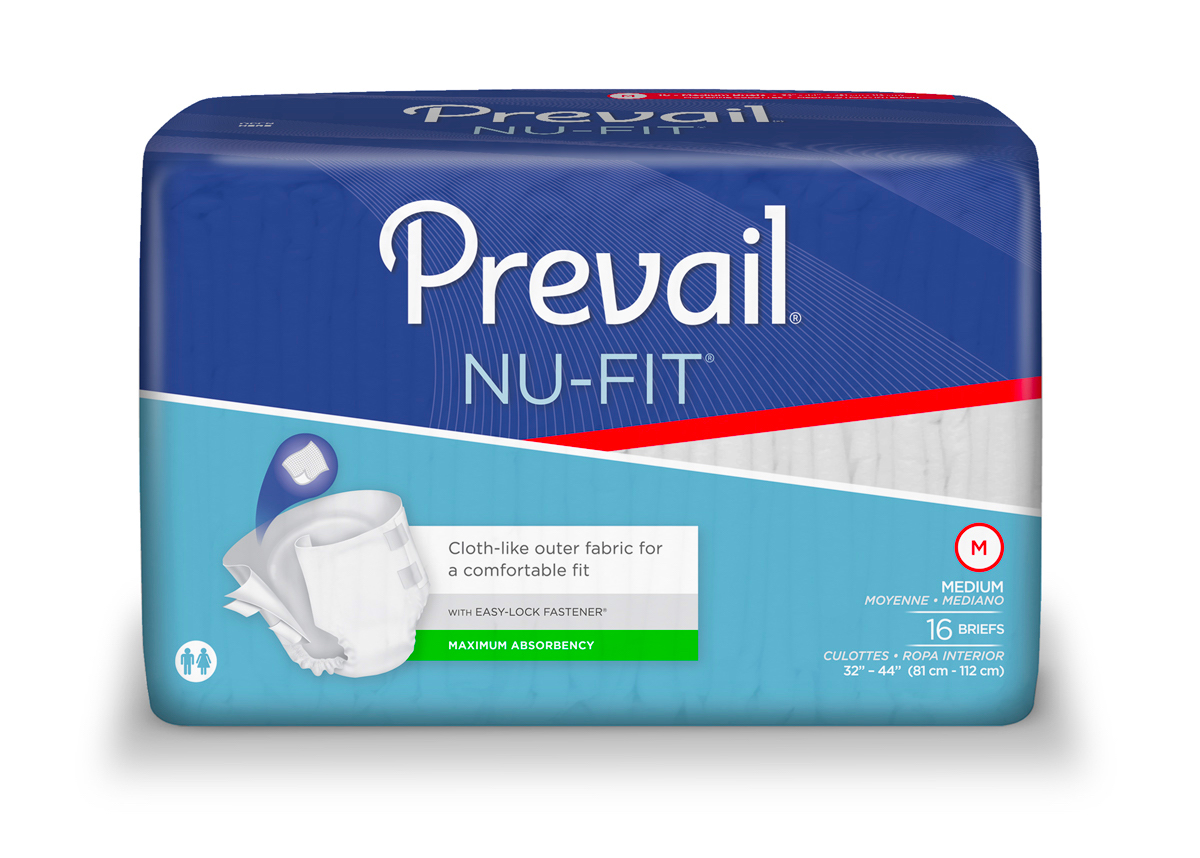 Prevail Nu-Fit Adult Diapers (by the Case)