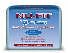 Prevail Nu-Fit Adult Diapers (Size Large (Bag of 18)