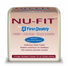 Prevail Nu-Fit Adult Diapers (Size X-Large (Bag of 15)