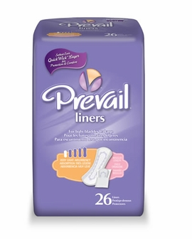 Prevail Pantiliner - Very Light Bladder Control Pad (Case of 12 bags)