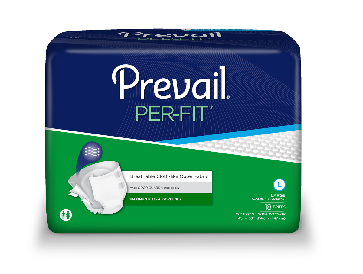Prevail Per-fit Adults Diapers (Size Large) (Bag of 18)