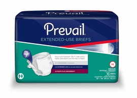 Prevail PM Extended Wear Briefs (Size X-Large) (by the Bag)