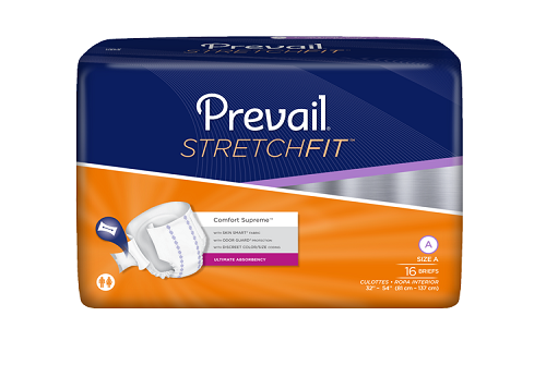 Prevail StretchFit Adjustable Incontinence Adult Brief (by the Bag)
