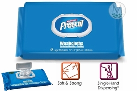 Prevail Washcloth Press-N-Pull Lid 48ct Soft Pack (by the Each)