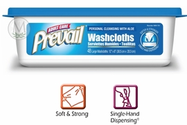 Prevail Washcloths 48ct Tub (Case of 12)