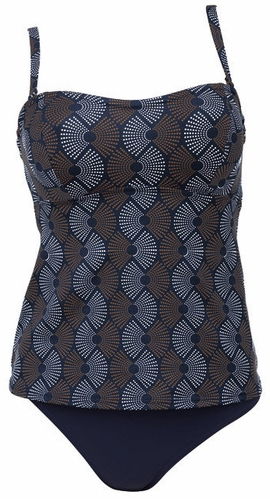 Rosa Faia Blue Jewel Underwire Tankini with Optional Bandeau (L3 8814)
