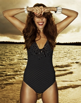 Rosa Faia by Anita Black Pearl One Piece Tank Swimsuit (L3 7778)