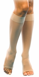 Sigvaris 120 Sheer Fashion Knee High (Open Toe) (15-20mmHg)
