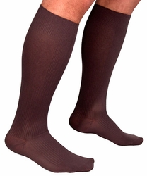 Sigvaris 180 Classic Ribbed Knee High Sock Closed Toe (15-20mmHg) (Men)