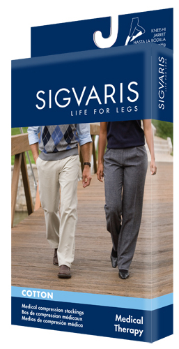 Sigvaris 230 Cotton Thigh High Closed Toe (30-40 mmHg)