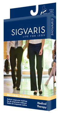 Sigvaris 500 Natural Rubber Knee High (Open Toe) (30-40mmHg)