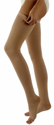 Sigvaris 500 Natural Rubber Thigh High with Grip-Top (Open Toe) (30-40mmHg)