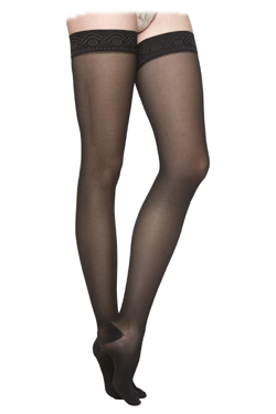 Sigvaris 770 Truly Transparent Sheer Thigh High with Grip-Top, Closed Toe (20-30mmHg)