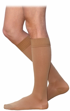 SIGVARIS 860 Select Comfort Knee High for Men (Closed Toe w/ Grip Top) (20-30 mmHg)