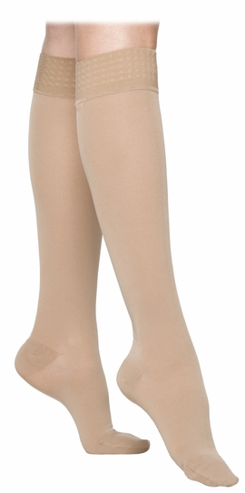 SIGVARIS 860 Select Comfort Knee High for Women, Closed Toe w/ Grip Top (20-30 mmHg)