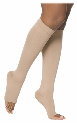 SIGVARIS 860 Select Comfort Knee High, Open Toe w/ Grip Top (30-40 mmHg)