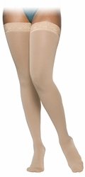 SIGVARIS 860 Select Comfort Thigh High for Women, Closed Toe w/ Grip Top (30-40 mmHg)