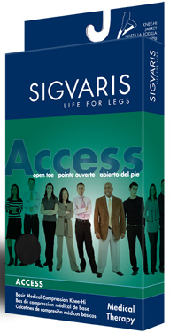 Sigvaris 970 Access Thigh High with Silicone (Open Toe (20-30mmHg) (Unisex)