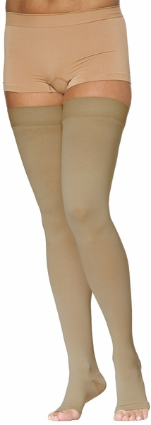 Sigvaris 970 Access Thigh High with Silicone (Open Toe) (30-40mmHg) (Unisex)