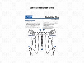Size Chart for Jobst MedicalWear Glove (pre-sized)
