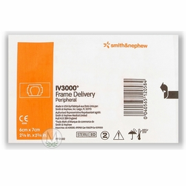 "Smith & Nephew IV3000 Frame Delivery Catheter Dressing (2 3/8""x2 3/4"") (Box of 100)"
