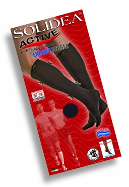 Solidea Micro Massage Active Unisex Energy Knee-High Socks, Closed Toe (12/15 mmHg)