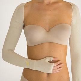 Solidea Silver Wave Bilateral Compression Armsleeve (15/21 mmHg)