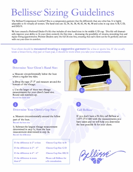 The Bellisse Bra Fitting Guidelines