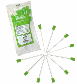 Toothette Single Use Oral Swabs (Sage #6072) (Case of 1000)