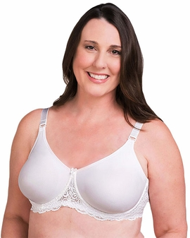 Trulife Audrey Seamless Lace Accent Underwire Pocketed Bra (Style 4008)