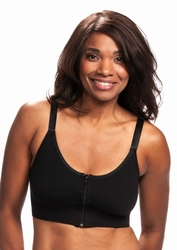 Wear Ease Allyson Front Zipper Pocketed Bra (2 Drain Pouches and 2 Breast Forms) (Style 752)
