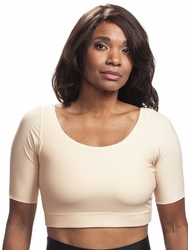 Wear Ease Compression Pocketed Crop Top (Style 785)