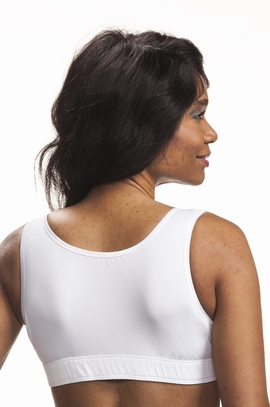 Wear Ease Grace Front Zipper Pocketed Bra, 2 Drain Pouches, 1 Breast Form, Style 742