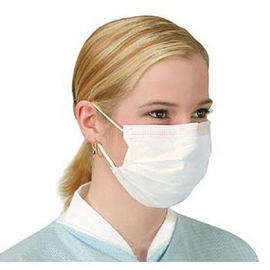 White Pleated Earloop Face Masks (Case of 1,000) (20 Boxes of 50)