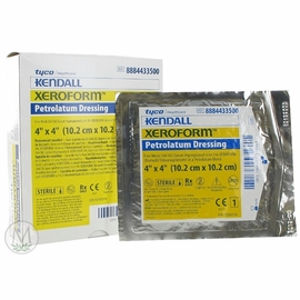 "Xeroform Petrolatum Gauze (4""x4"") (Box of 25)"