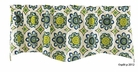 "Kaleidoscope Lapis Lined Wave Valance by Split P 18""H x 58""W"