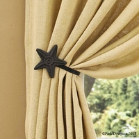 Star Curtain Tieback (blk) (pr)