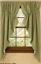 "Sturbridge Lined Gathered Swag 72""x63"" pr (Green shown)"