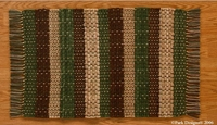 "Timber Ridge Rag Rug Green/Brown 36""x 60"""