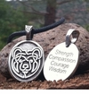 Bear ~ Celtic Strength Pewter Necklace