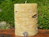 Birch Bark Ritual Pillar Candle