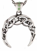 Celtic Knot Crescent Moon Necklace