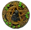 Celtic Moon Pentacle & Familiar Altar Plaque