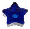 Cobalt Star Glass Mini Candle Holder
